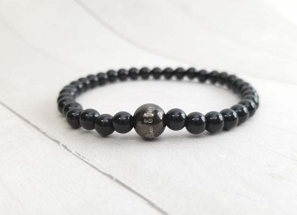 Stacking Bracelet - Black Agate