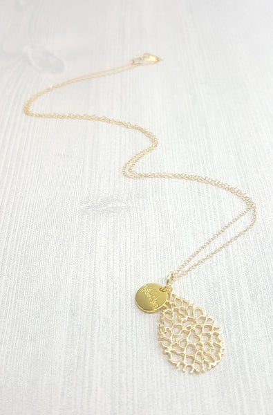 Coral Drop Necklace