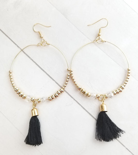 Rowan Earrings - Black