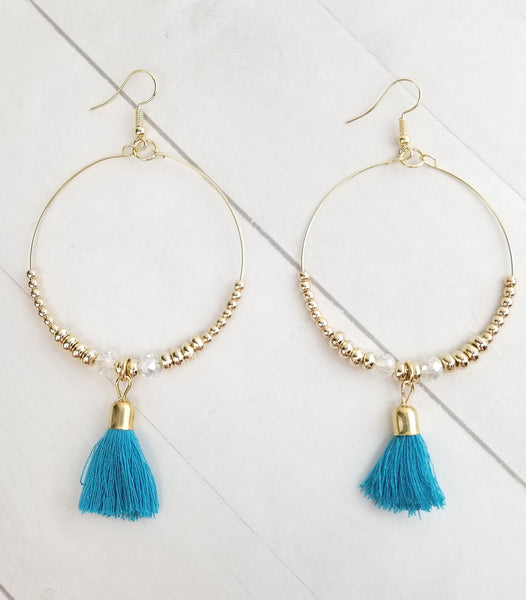 Rowan Earrings - Aqua