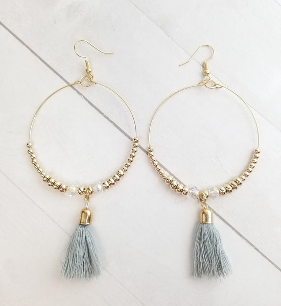 Rowan Earrings - Grey