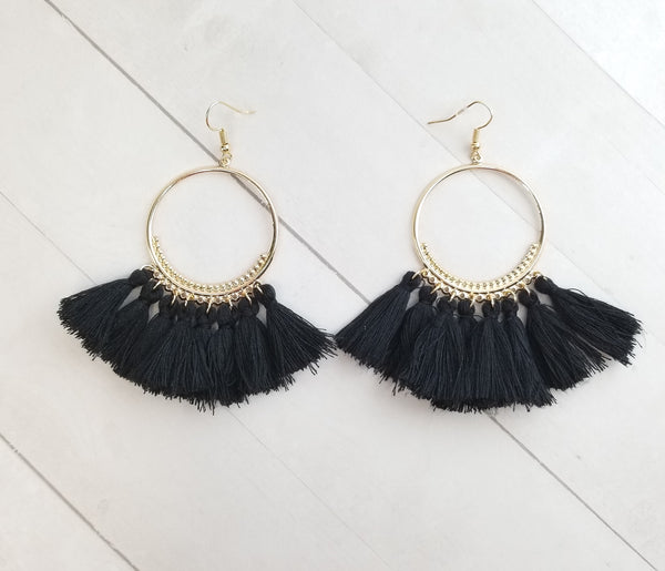 Rumi Earrings - Black