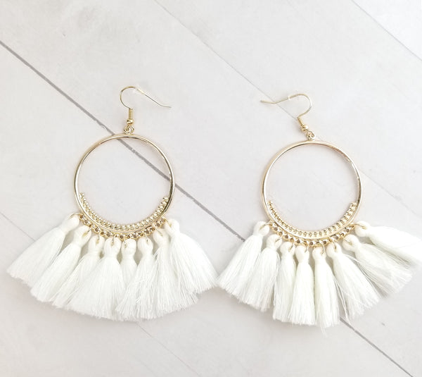 Rumi Earrings - White
