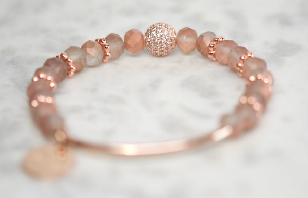Stacking Bracelet - Rose Gold Pavé