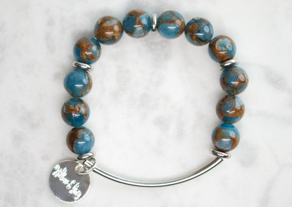 Stacking Bracelets - Blue Nepal