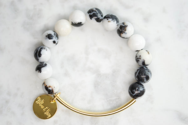 Stacking Bracelets - Black Zebra