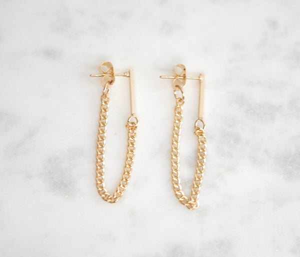 Vertical bar earrings