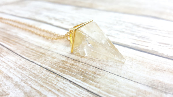 Citrine Pyramid Necklace