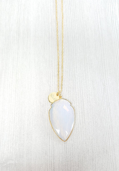 Opal Arrowhead Necklace