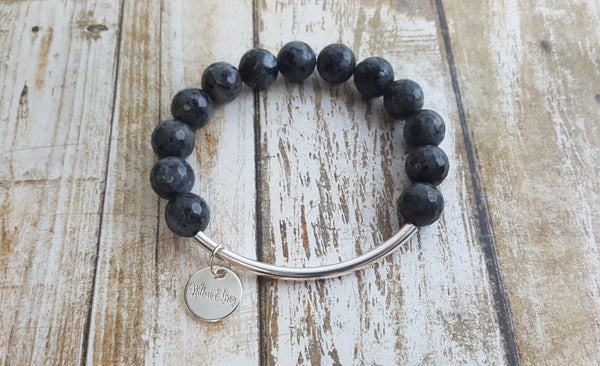 Stacking Bracelet - Black Onyx