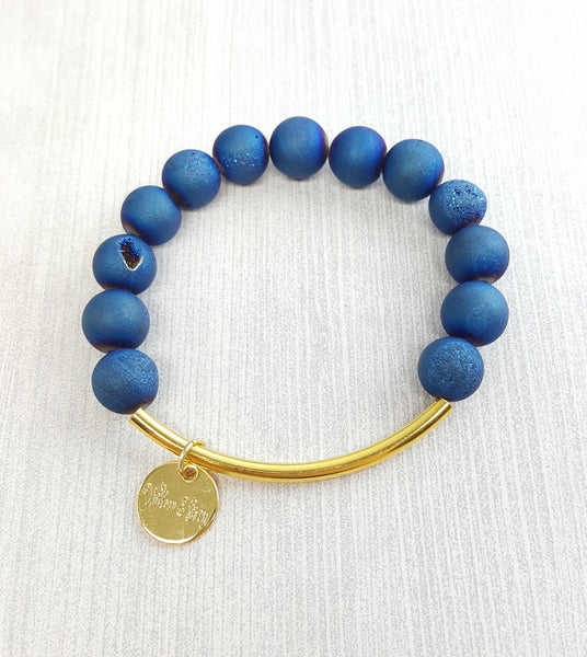 Stacking Bracelets - Matte Blue