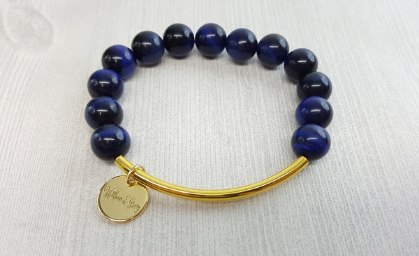 Stacking Bracelet - Blue Tiger Eye