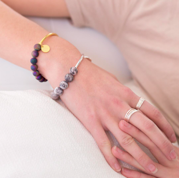 Stacking Bracelet- Matte Rainbow