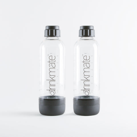 DrinkMate/iSoda Carbonation Bottle 2 Pack (compatible with all iSoda & DrinkMate Makers)