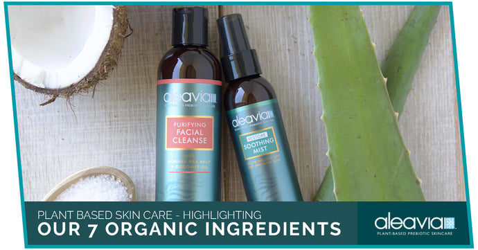 Plant Based Skin Care - Highlighting Our 7 Organic Ingredients