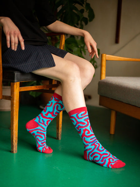 Architecture Socks: Vermiculated Rustication
