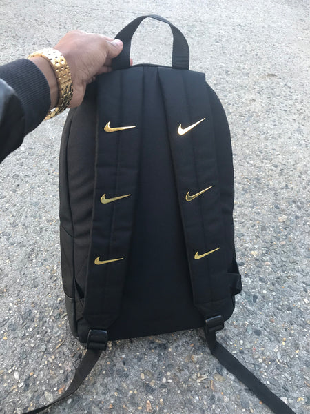 Golden Check Canvas Backpack