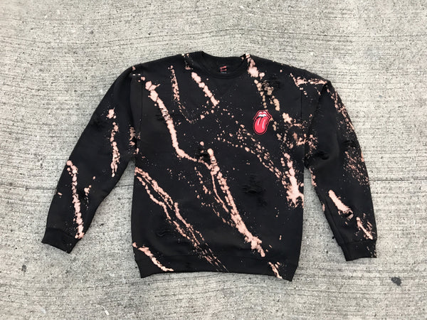 Stoned Distressed Crewneck