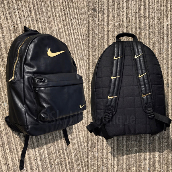 Golden Check Backpack