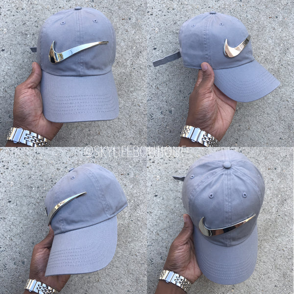 Cement Chrome Check Dad Cap