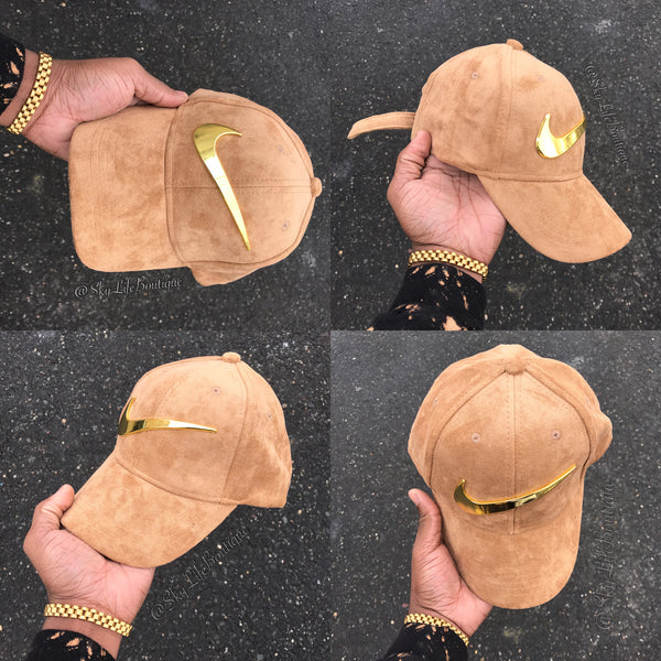 ... Suede Sand Golden Check Strapback – SkyLife Boutique excellent quality  1334b 56378  hat ... 3a984a27756