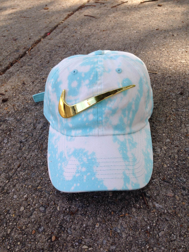 Sky Bleached Golden Check Dad Cap - Custom Order DM to purchase