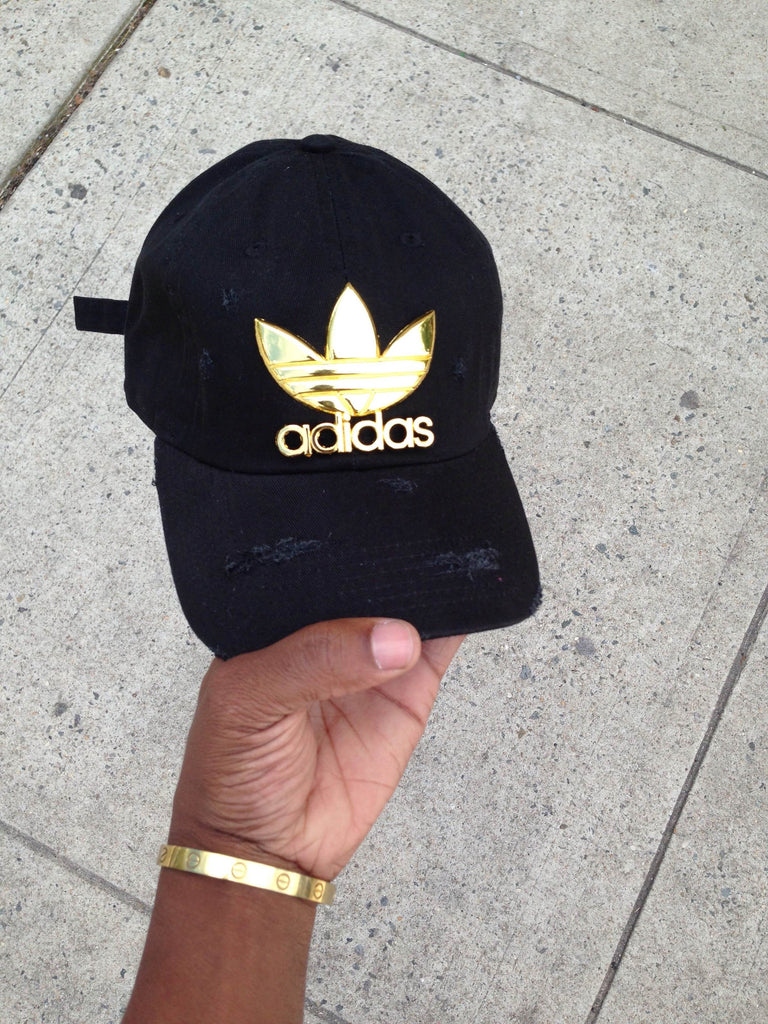 Black Tre-Foil Dad Cap