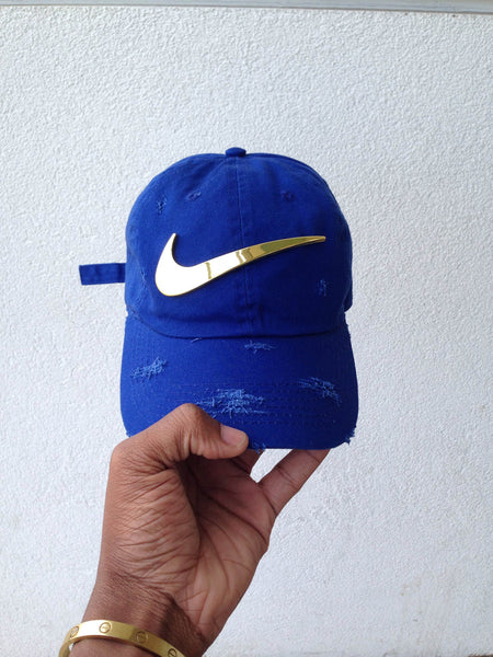 Royal Golden Check Dad Cap