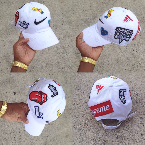 "White ""What The Brand"" Dad Cap"