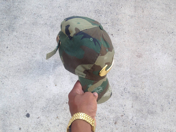 Camo Golden Check Dad Cap