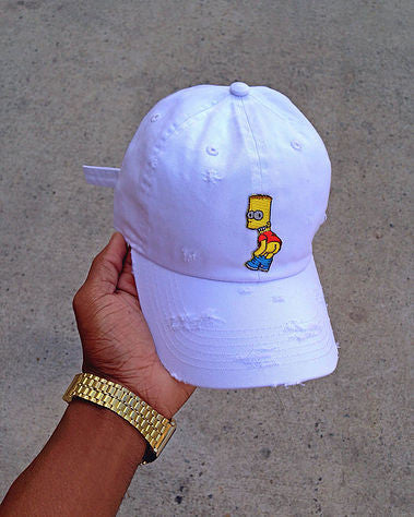 White Bart Dad Cap