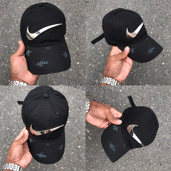 2461e4d1b174a Sold Out Black Cap w  Chrome Plated Check