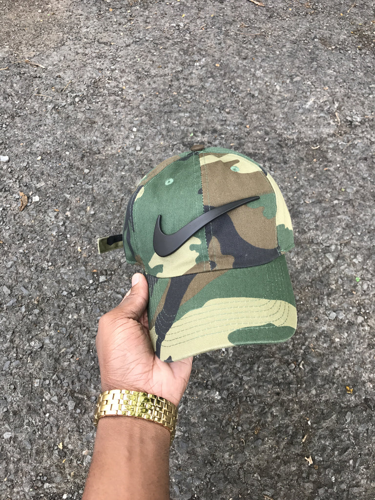Camo Matte Check Dad Cap