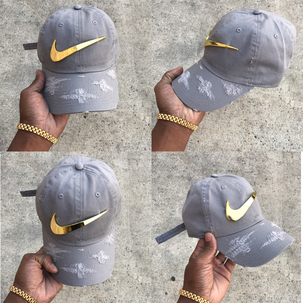 Cement Golden Check Dad Cap