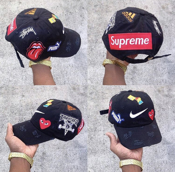 "Black ""What The Brand"" Dad Cap"