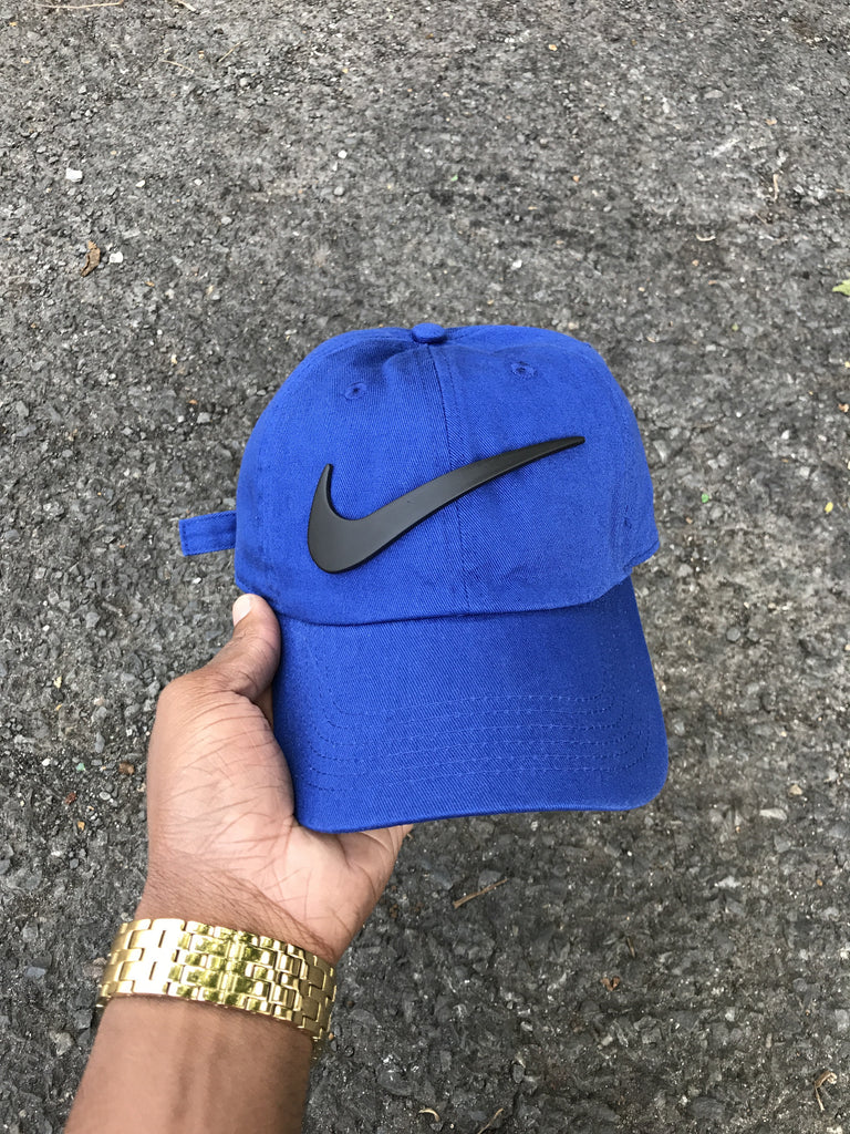 Royal Matte Check Dad Cap