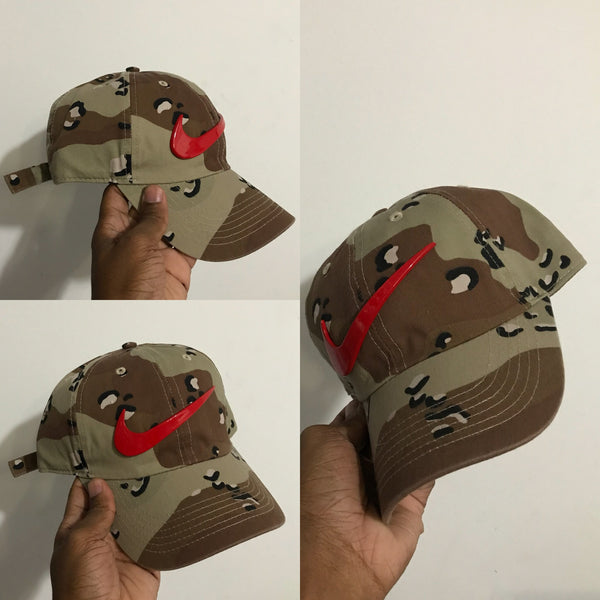 Desert Storm Camo Red Dad Cap