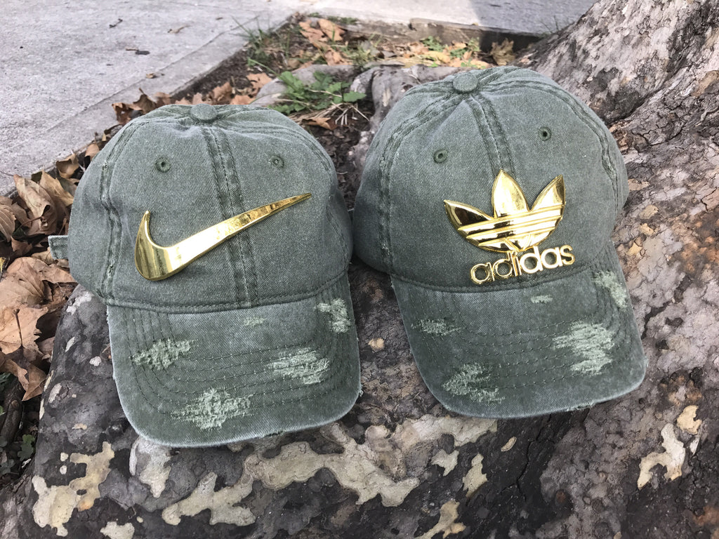 Olive Washed Tre-Foil Dad Cap