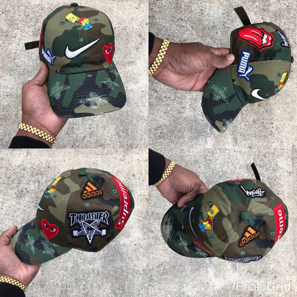 "Camo ""What the brand"" Dad Cap"