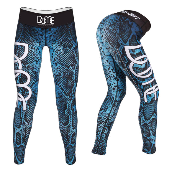 Tights | Reptilian - Black / Blue