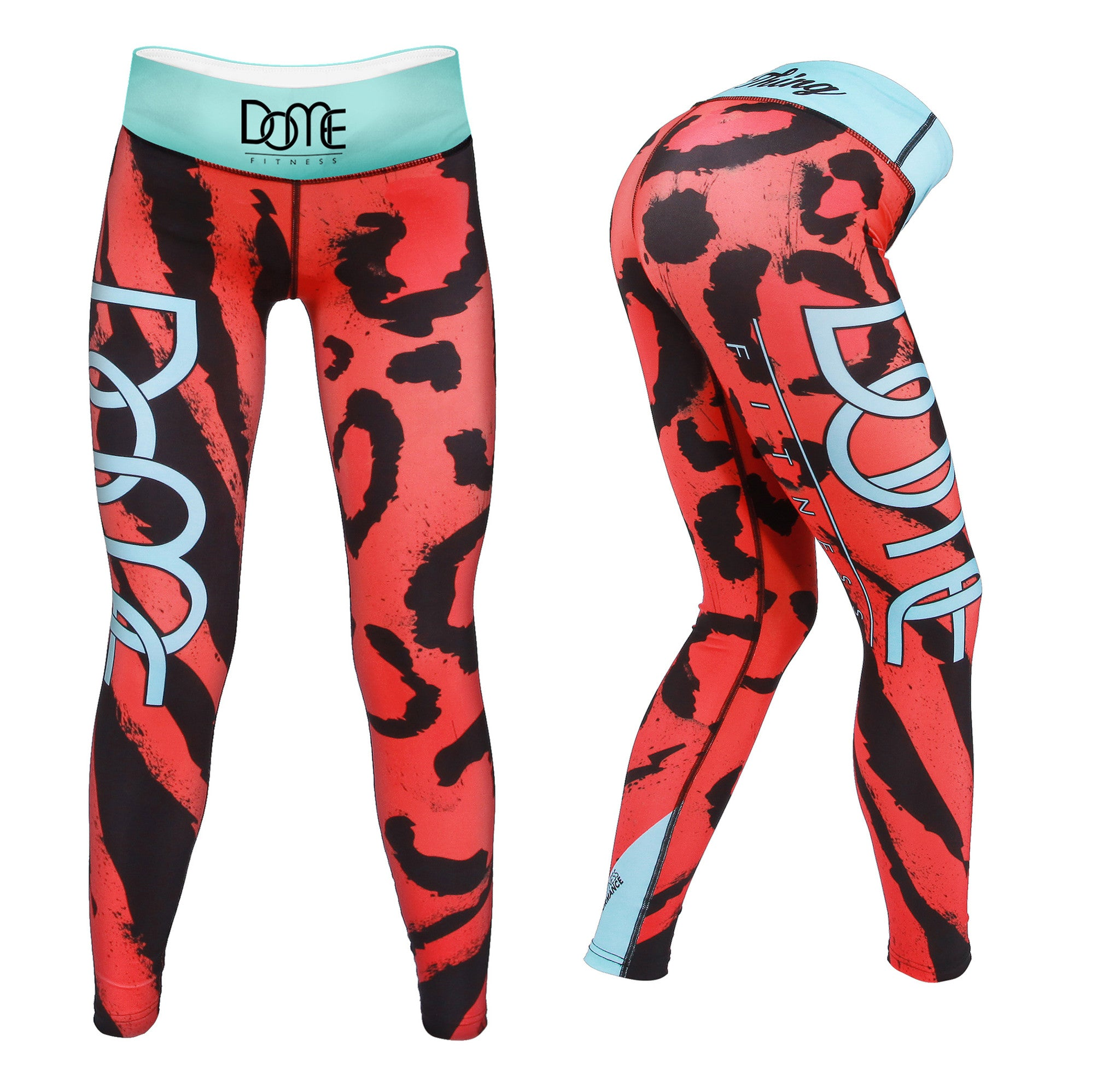 Tights | Roar - Orange / Baby Blue