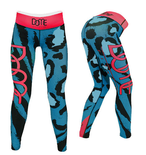 Tights | Roar - Turquoise / Pink