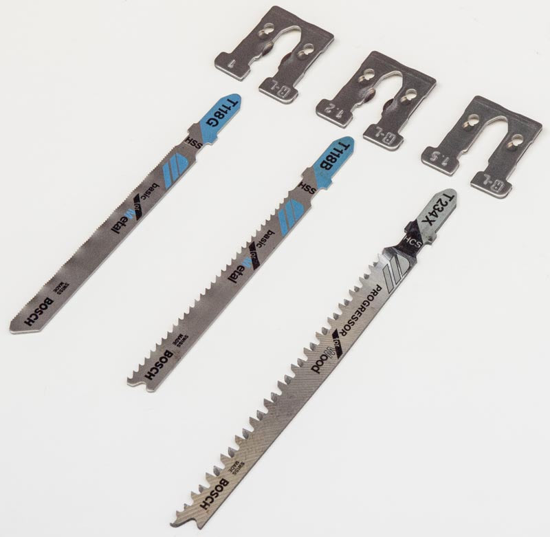 3 Bosch Jigsaw Blades and Adaptors for RALI™ Shark L Chisel