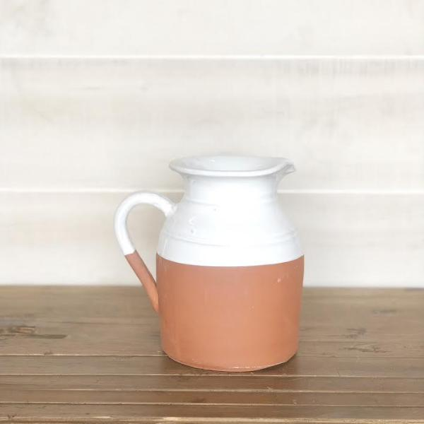Terra Cotta Ceramic Pitcher