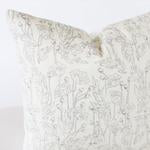 Grey Poppy Pillow Cover