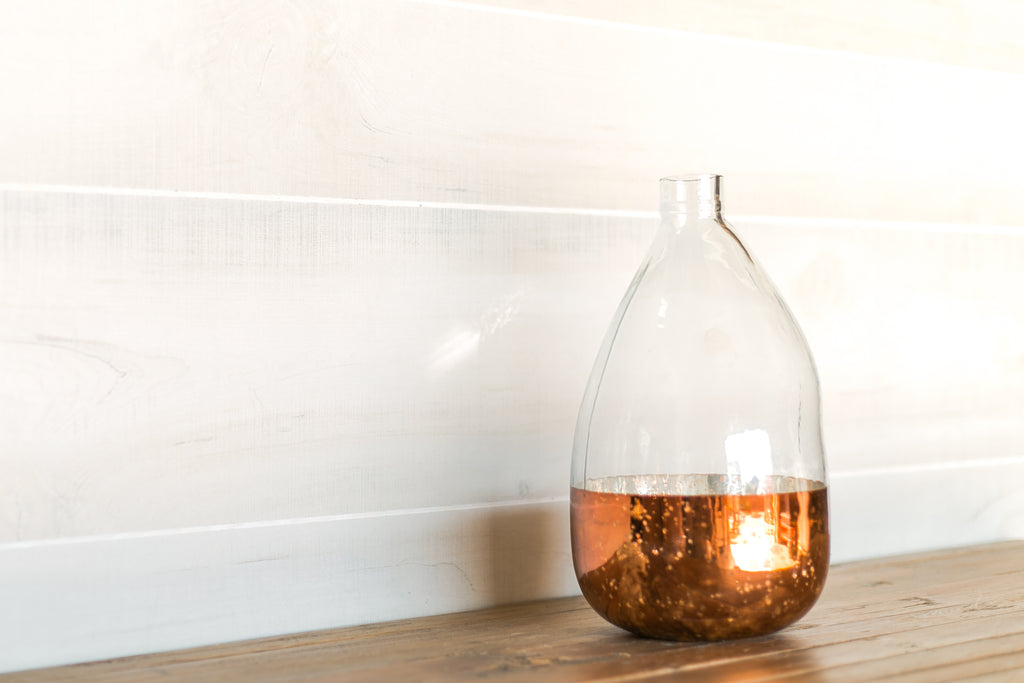 Copper Glass Balloon Vase