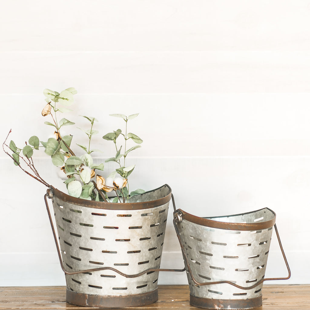 Olive Bucket Set with Handles