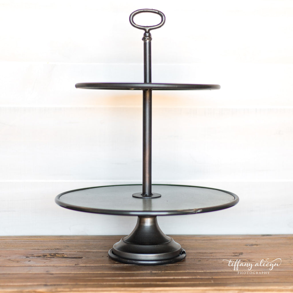 Metal Two Tier Stand