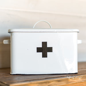 Enameled First Aid Box