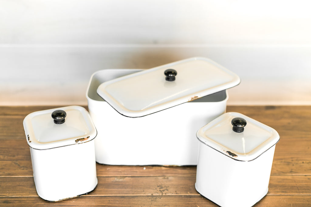 Black & White Canister Set